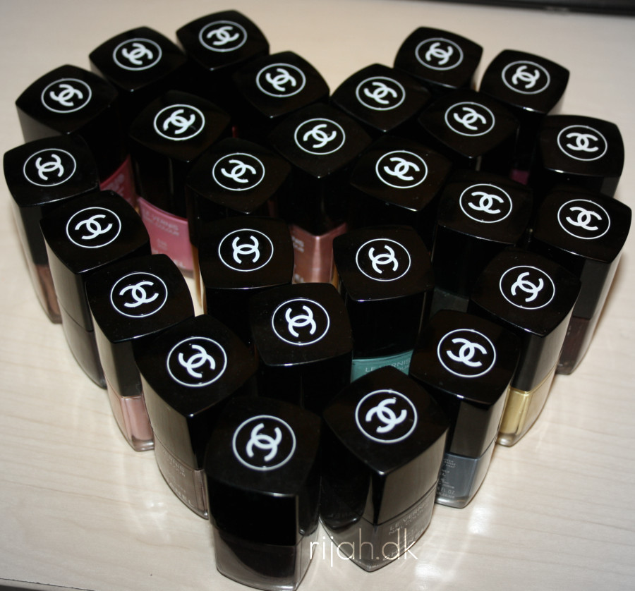 Chanel nailpolish heart