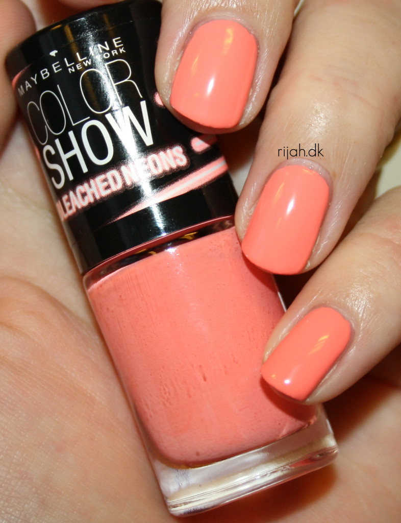 Maybelline Coral Heat Maybelline Bleached Neons