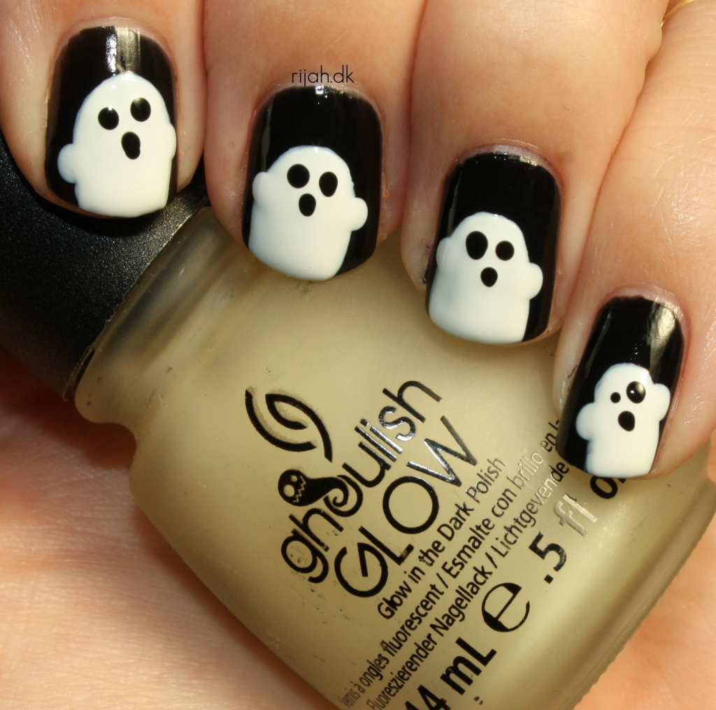 31DC2014 29: Inspired by the supernatural / Ghost nails
