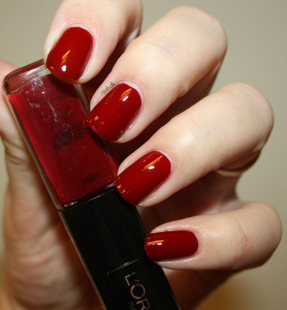 Loreal 016 Forever Burgundy Loreal Infallible Nails