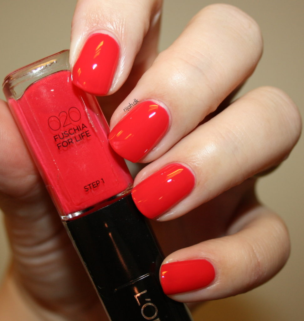 Loreal 020 Fuschia For Life Loreal Infallible Nails