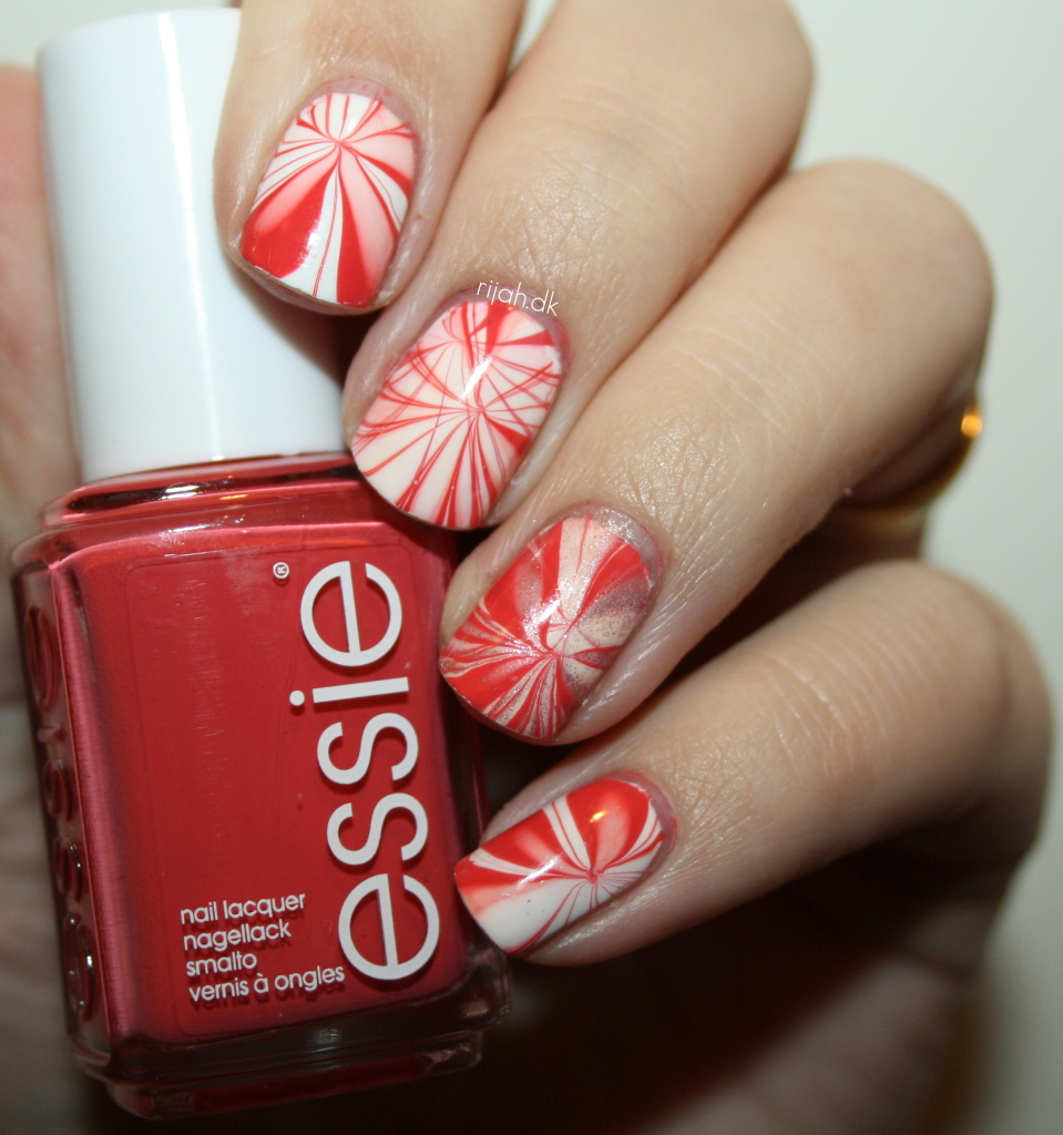 Essie Winter 2014 watermarble