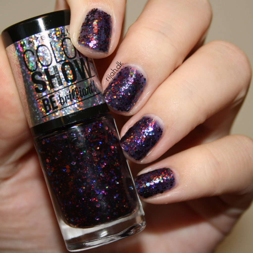 Nytårs neglelook fra Maybelline - Be Brilliant Maybelline Purple Dazzle