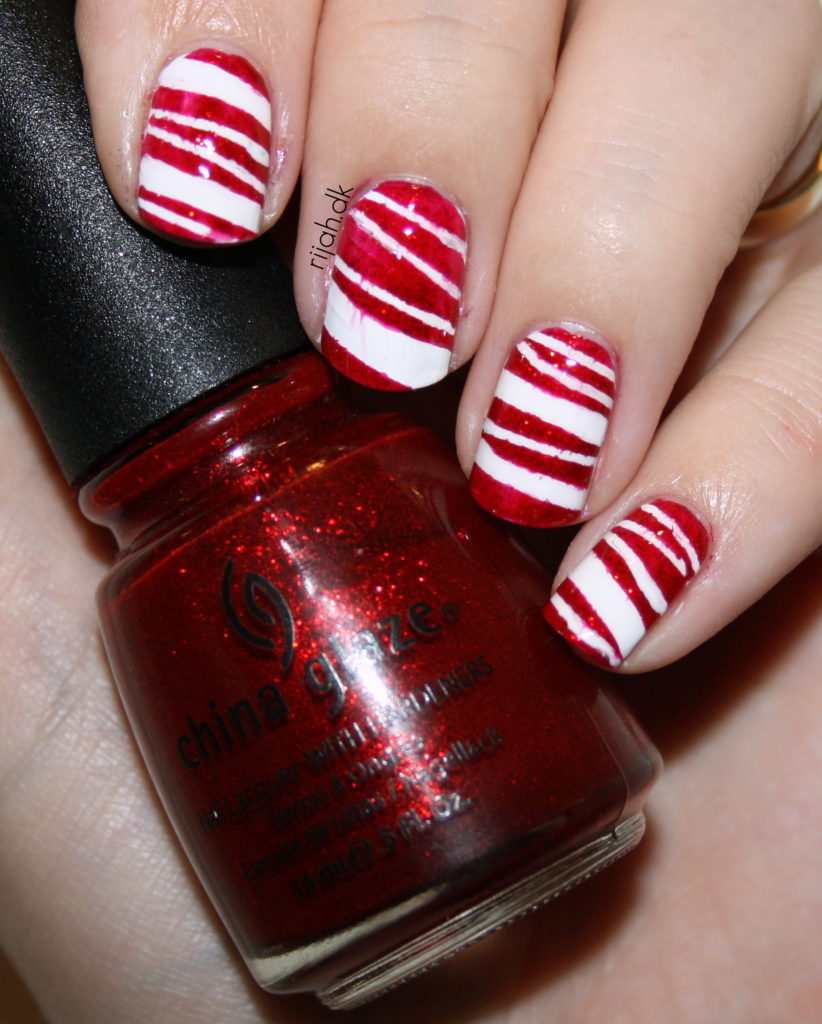 Nail fails #2 Candy cane fail