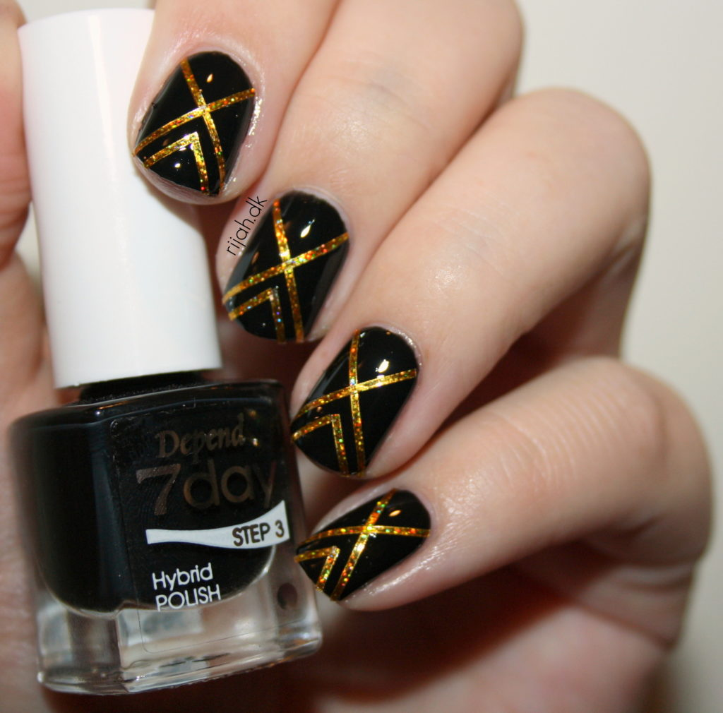 Fancy Friday Striping tape mani