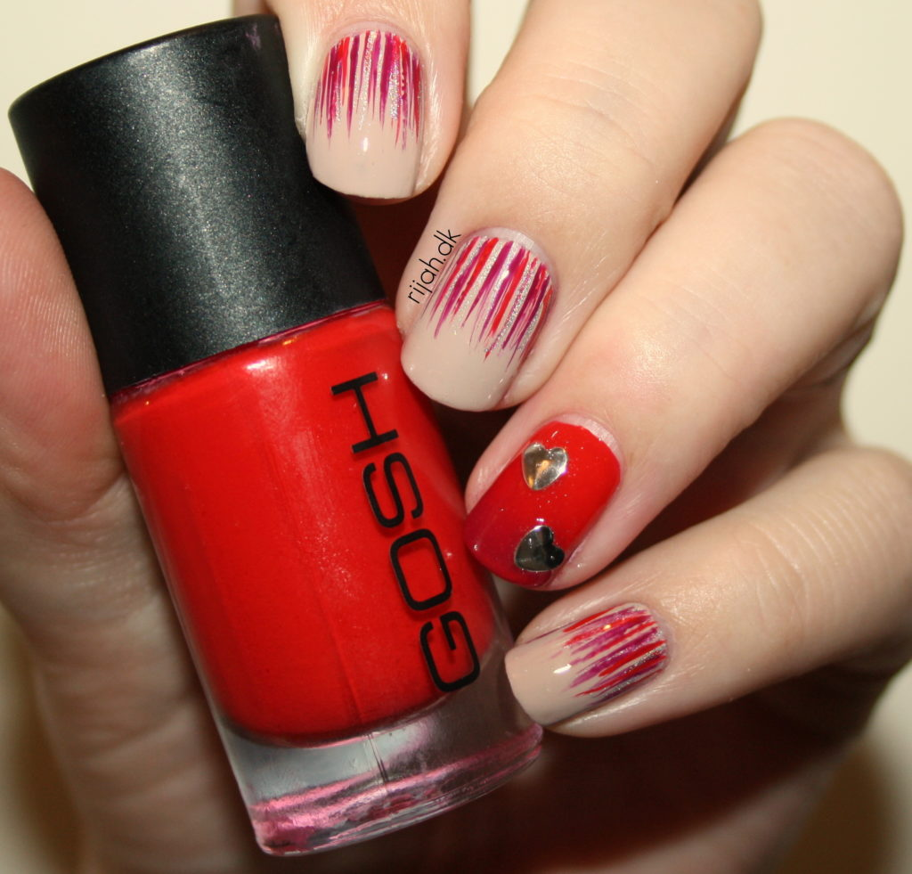 Fancy Friday - Valentinsdag nailart