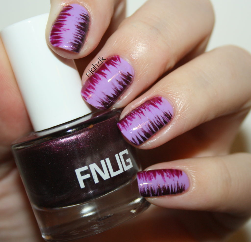 #WeekendOffNailArtChallenge - Purple Stripes nail art