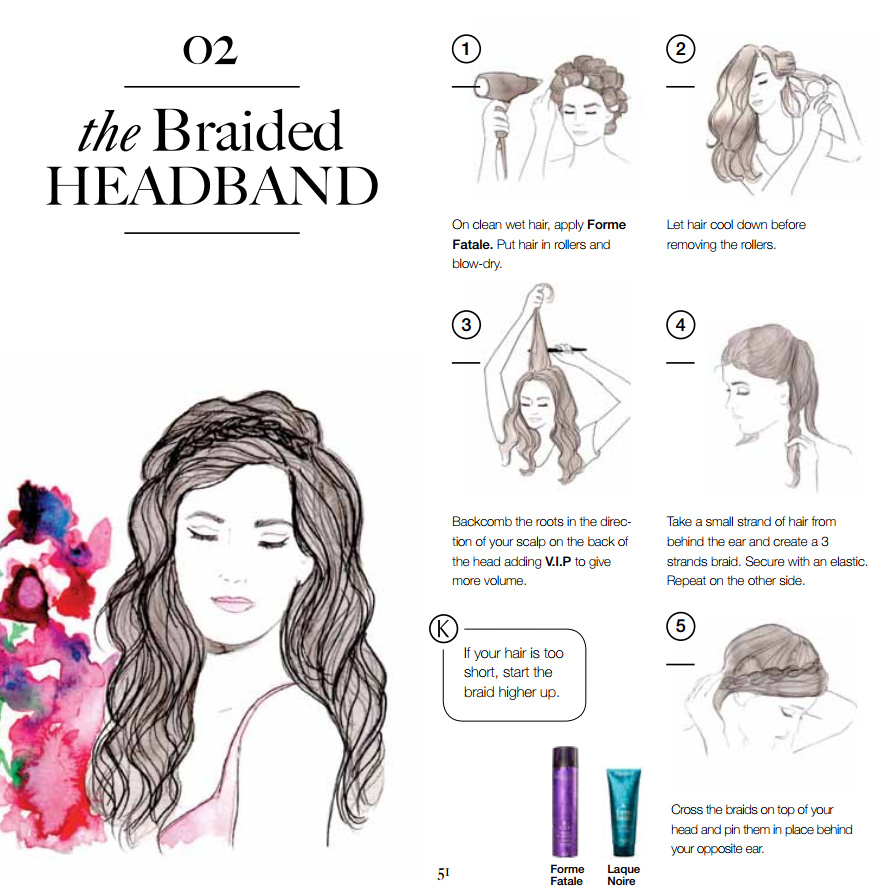 The braided headband The Couture Book of Braids