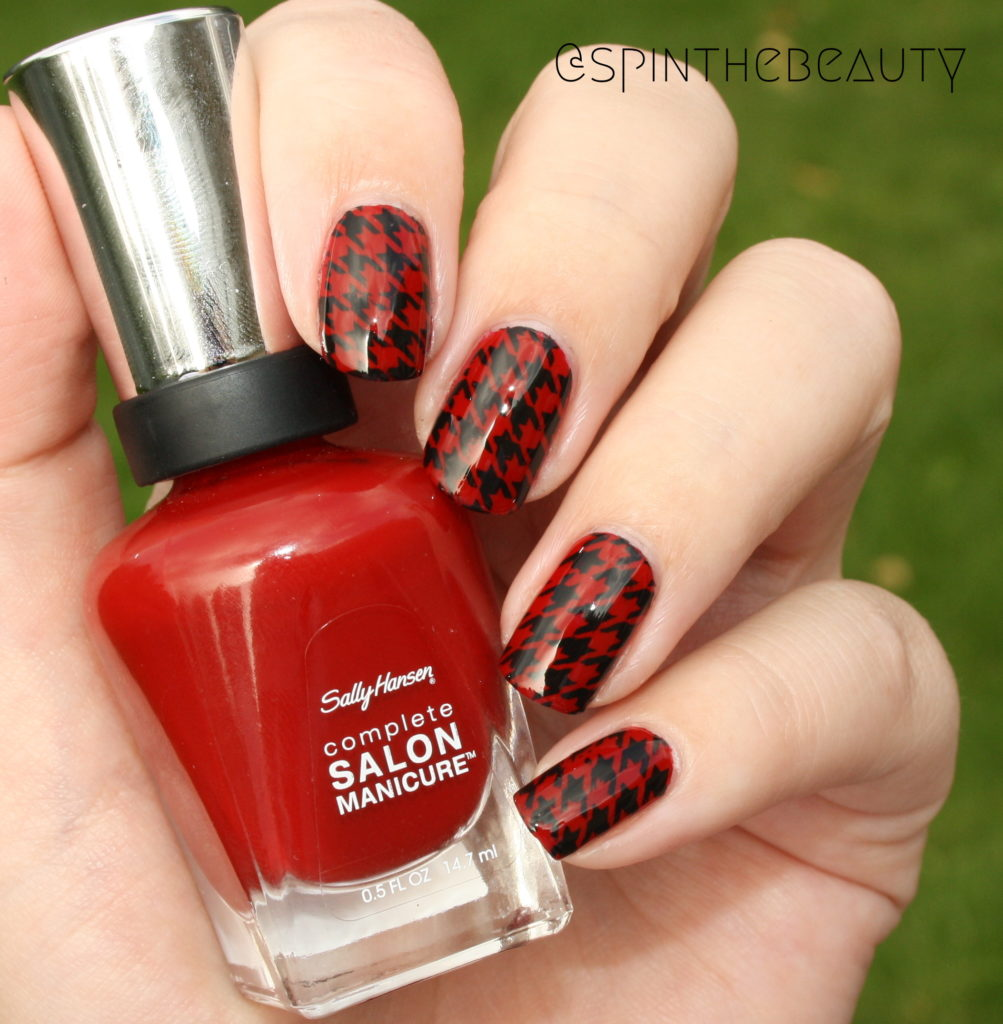 31DC2015 Inspired by fashion Houndstooth Nail art 2015