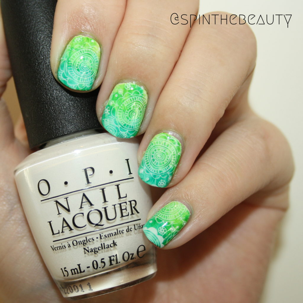 31DC2015 Green Nails Nail art 2015