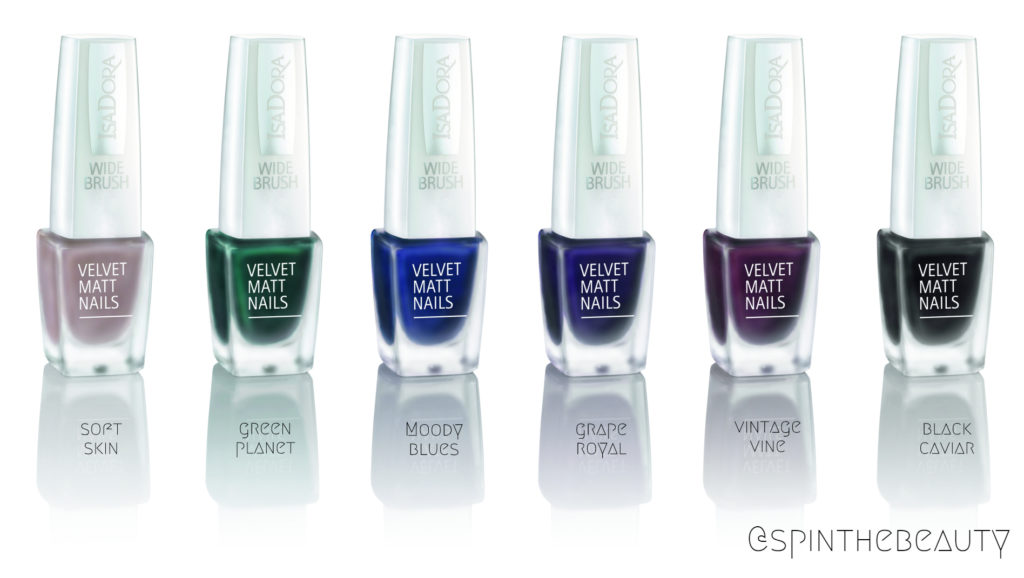 IsaDora Velvet Matt Nails Green Planet & Moody Blues IsaDora Velvet Matt Nails