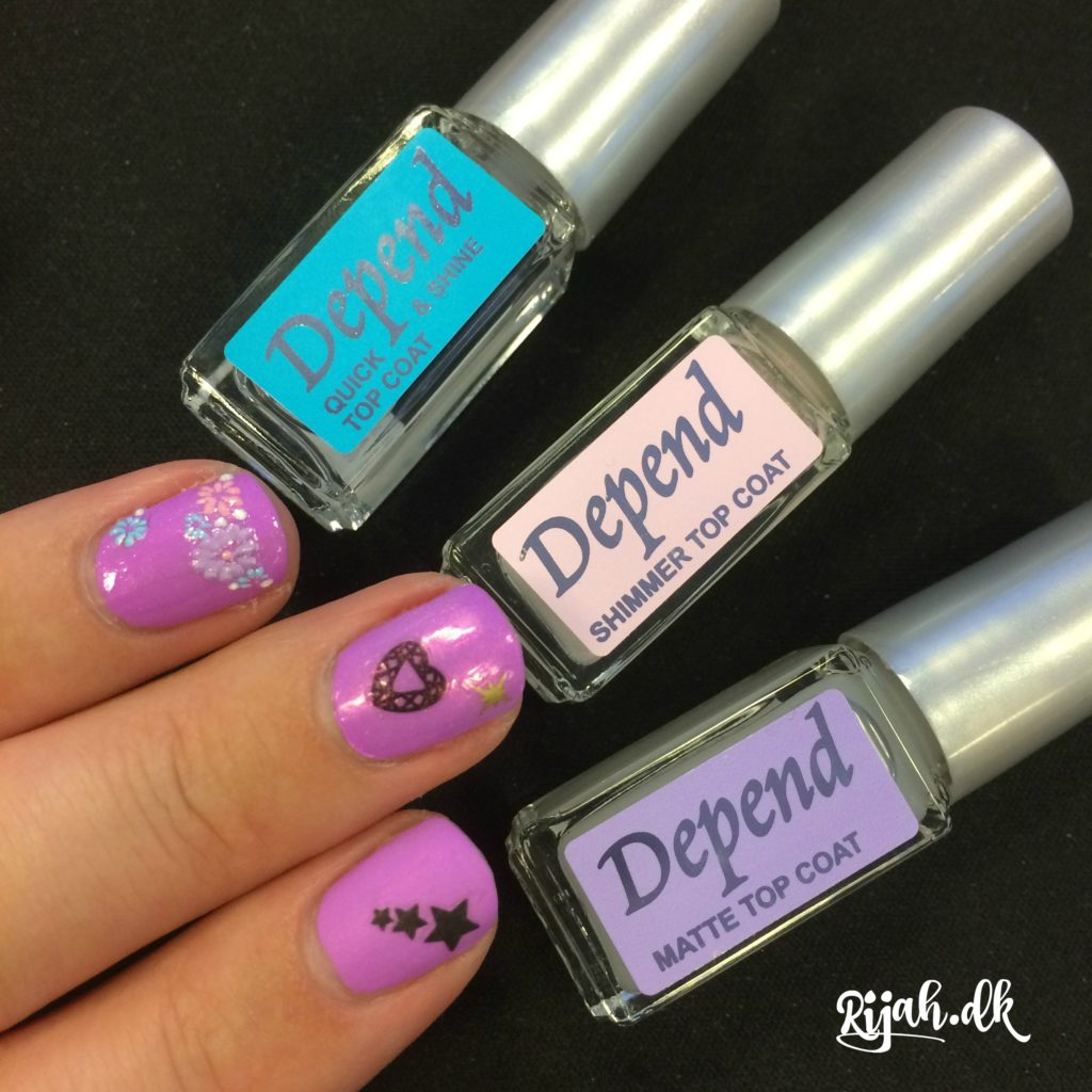 Depend Topcoat Shine Mat Shimmer Depend Nail Art nyt
